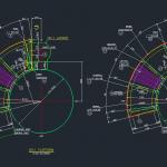 Bản vẽ thiết kế grating cung tròn thanh xoắn đồng tâm