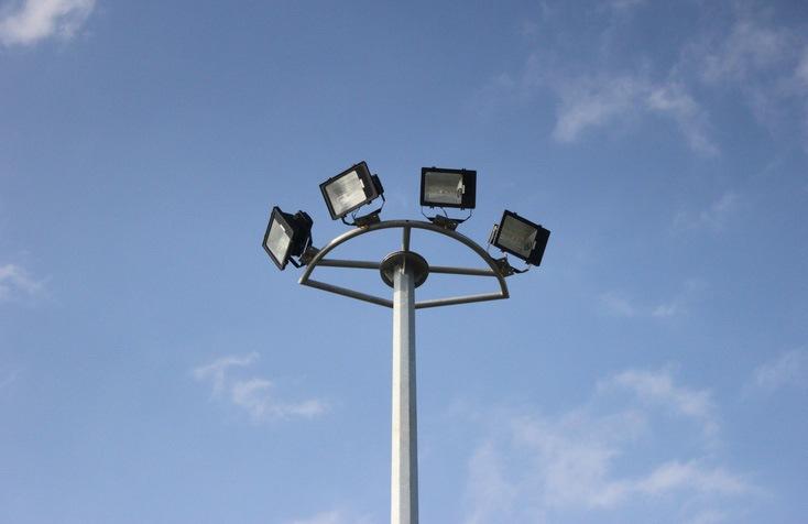 Đỉnh trụ đèn đa giác và cần đèn